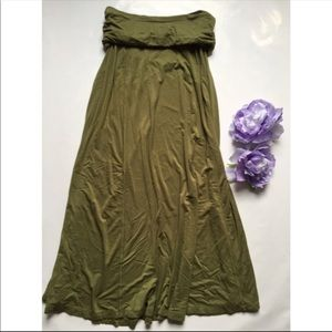 G A P | olive maxi skirt